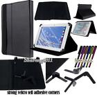 "Folio Stand Leather Cover Case For INSIGNIA Flex 7"" 8"" 10"" Tablet+ STYLUS"