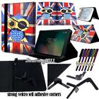 "Folio Stand Leather Cover Case For Sprint Slate 8"" (AQT80) / 10"" (AQT100) Tablet"