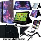 """Folio Stand Leather Cover Case For 7"""" 8"""" 10"""" Zeki TABLET + STYLUS"""