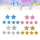New 12X Star Heart Cake Toppers For Party Birthday Wedding Cupcake Decoration
