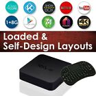 2016 SHOWBOX 16 SPMC Rockchip 3229 Quad Core Stream Box MXQ 4K I8 Keyboard