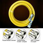 """G1/2"""" Yellow Protection Stainless Steel Corrugated Gas Pipe Hose 50 to 500cm"""