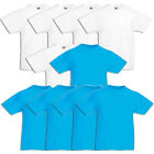 Fruit of the Loom Kids Valueweight T-Shirt  92-164 10er Pack Weiß /Azur 61033
