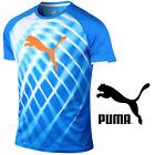 Puma IT EvoTRG Graphic T-Shirt Electric Blue Lemonade White Tee Youth Sizes