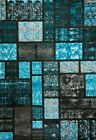 1007 Turquoise Modern Area Rug
