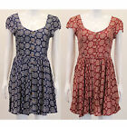 Ladies Dress Brave Soul Womens Paisley Flared Cap Sleeved Button Summer Fashion