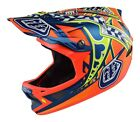 Troy Lee Designs 2017 D3 Composite Helmet Longshot Orange Adult All Sizes