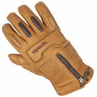 New Spada Motorcycle Bike Mens Waterproof Leather Rigger Gloves Sand Size S-XXL