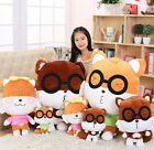 plush toy stuffed doll animal glasses squirrel cartoon dressed gift present 1pc