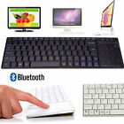 Mini Wireless Bluetooth Keyboard Touch Pad Mouse Ultra Slim For Tablet PC Lot