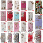 Bling Diamante Diamond Stones Crystal Luxury wallet leather Phone Case Cover F