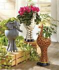 INDOOR OUTDOOR SAFARI ELEPHANT GIRAFFE ZEBRA ANIMAL GARDEN FLOWER DECK PLANTER
