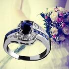 Blue Sapphire White Gold Filled Engagement Ring Size 7 8 9 Rings Jewelry New  SB