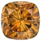 1.00 Carat to 3.00 Carat Cognac Brown Cushion cut Loose Moissanite NR for sale