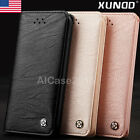 Genuine XUNDD Slim Leather Wallet Card Case Stand Flip Cover F iPhone X 7 8 Plus