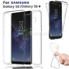 Full Body Protective Cover Soft TPU Clear Case for Samsung Galaxy S8/S8 Plus New