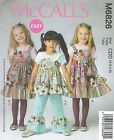 McCall's 6826 Girls' Top, Dress, Apron and Pants    Sewing Pattern