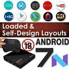 Android 7 Nougat SPMC Quad Core RK3328 Stream Adult TV Box I8 Keyboard Exodus