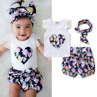 Toddler Kids Baby Girls Outfits Clothes T-shirt Tops+Pants/Shorts/Skirt 2PCS Set