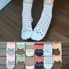 New Women Lady Girl Cute Cat Footprints Striped Cartoon Cotton Soft Socks