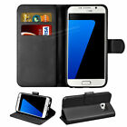 Premium Leather Flip Case Wallet Card Slot + Tempered Glass For Samsung A5 2016