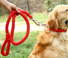 Dog Leash with Collar Thick Braided Nylon Heavy Duty For Medium & Large Dogs