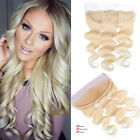 7A Brazilian Loose Wave 613 Blonde Virgin Hair Lace Frontal Closure Baby Hair