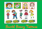 HORRID HENRY party temporary TATTOOS WATERPROOF peter margaret  last 1WEEK+