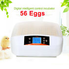 56 Digital Eggs Incubator Hatcher Automatic Turning Temperature Poultry Bird Egg