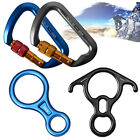 Aluminum Figure 8 Descender D-shape Auto Locking Carabiner Rappelling Hook Lock