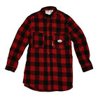 Rasco FR Men's Flame Resistant Red And Black Plaid Work Shirt NFPA 2112 Rated
