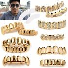 Hot Gold Grillz 24k Plated Teeth Mouth Grills Bling Hip Hop Gangsta Gangster New