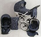 Baby 3in1 Cleo Retro Travel System +CAR SEAT - PRAM PUSHCHAIR 15 Colors