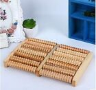Raw Wooden Wood Roller Foot Massager Stress Relief Pain Health Therapy Relax