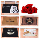 Creative Door Mat Starfish Go Away Cat Rubber Floor Rug Non-