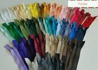 8 inch closed end zips Mixed pastels neutrals brights black/white/navy bundles