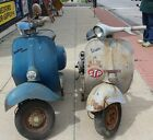 2 1960's Vespa Scooters Piaggio Co. Parts Repair Projects