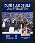 "DUKE BLUE DEVILS NCAA 2015 Men's Basketball Champions 8""x10"" Plaque"