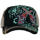 Catchfly Women's Black Tan Aztec Leopard 2 Guns Cap 1755HBBK