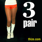 3 Pair - Suntan Footless PantyHose - Cheerleader, Dancer, Tilted Kilt, Hooters