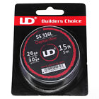 UD SS316 Clapton Draht - 26ga * 30ga (0,4 mm x 0,25 mm) - 4 m Rolle wire eZig
