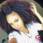 Afro Kinky Curly Clip In Human Hair Extension 10pcs 120g Natural Black