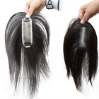 "5""x1.5"" inch Mono Remy Human Hair Topper Toupee Hairpiece Wig For Women"