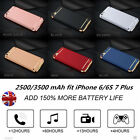 UK Ultrathin 3500mAh Power Bank Battery Backup Charger Case Fit iPhone 6S 7 Plus