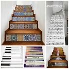 3D Creative Tile Stairs Riser Stickers Stairs Mural Decals DIY Decor 6PCS/set