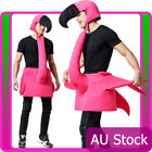 Mens Flamingo Costume Bird Animal Fun Party Man Ladies Womens Unisex Fancy Dress