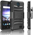 For ZTE Prestige 2 (N9136) Heavy Duty Tough Hard Case Cover w/ Belt Clip Holster