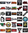 Embroidered Iron on Patches Heavy Metal Punk Rock Music Band t Shirts Logo