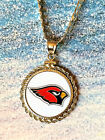 STERLING SILVER PENDANT W/ HAND PAINTED NFL ARIZONA CARDINALS SETTING - JEWELRY on eBay
