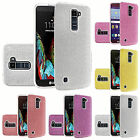 For LG K10 Premier LTE L62VL Slim Dual layer Bling Shiny Glitter Cover Case